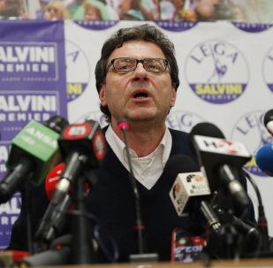 Il sottosegretario Giancarlo Giorgetti