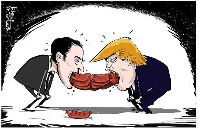 Le salsicce di Macron e Trump