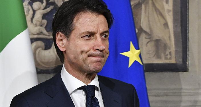 Il premier dell'Italia Giuseppe Conte