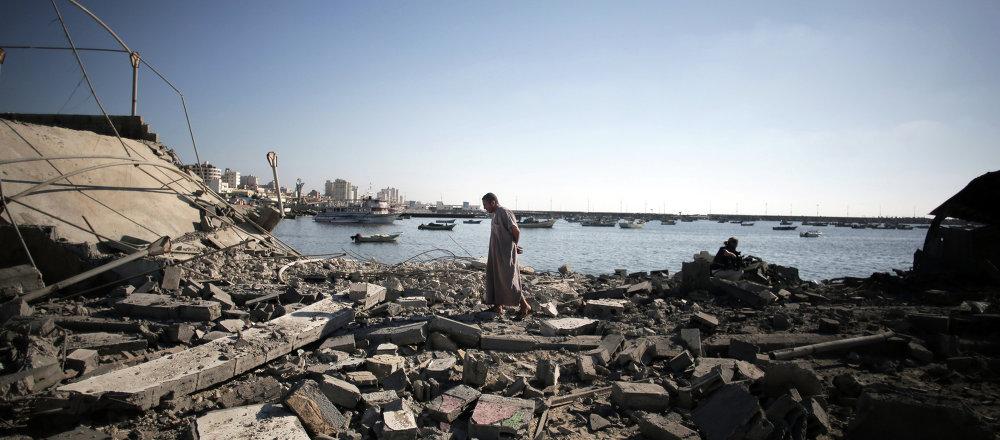 Le distruzioni nella Striscia di Gaza.