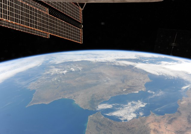 La vista su Terra dallo spazio.