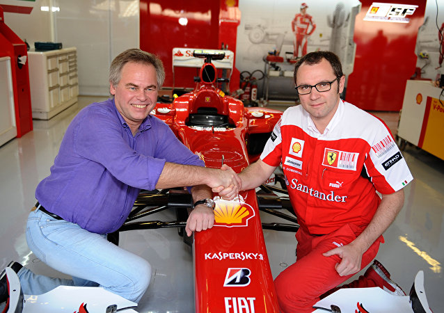 Il direttore di Kaspersky Lab, Yevgeny Kaspersky qui in una foto d'archivio con Stefano Domenicali della Ferrari
