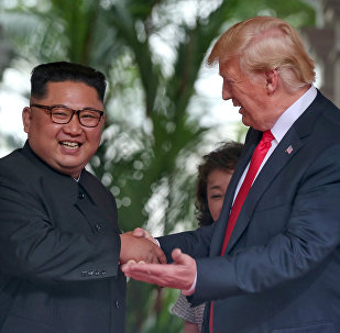 Kim Jong-un e Donald Trump a Singapore, il 12 giugno, 2018.