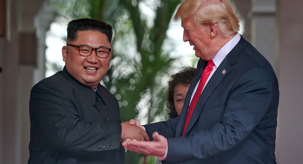 Kim Jong-un e Donald Trump a Singapore