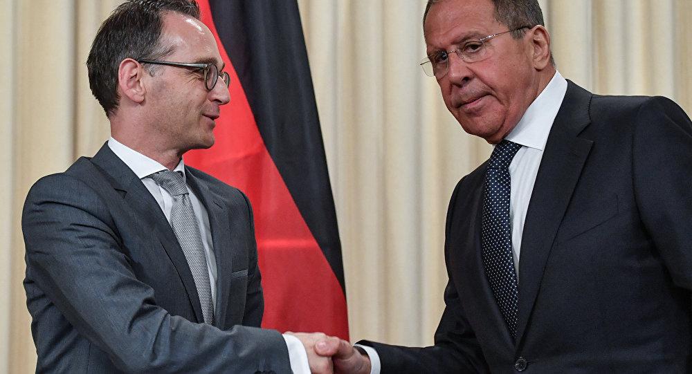 Heiko Maas e Sergej Lavrov