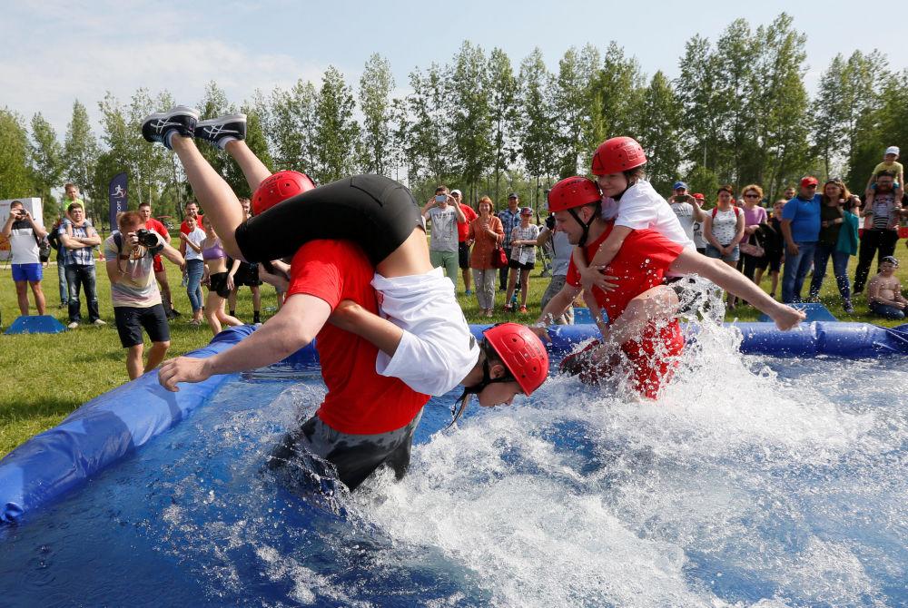 Le celebrazioni della Giornata della città di Krasnoyarsk, Russia.