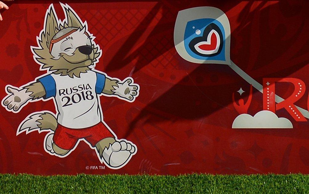 La mascotte dei Mondiali, il lupo Zabivaka