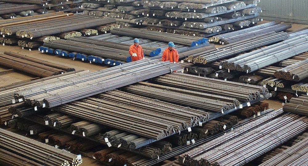 Un centro siderurgico in Cina