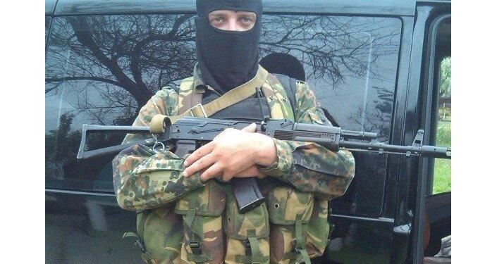 La base del reggimento Azov a Berdyansk. Sergey Sanovsky.