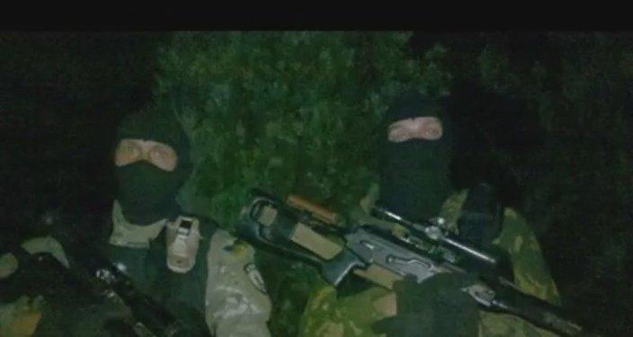 Preparazione per l'assalto di Maryinka, 2014. I cecchini del reggimento Azov.