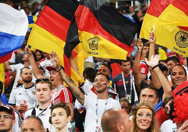 Tifosi tedeschi ai Mondiali