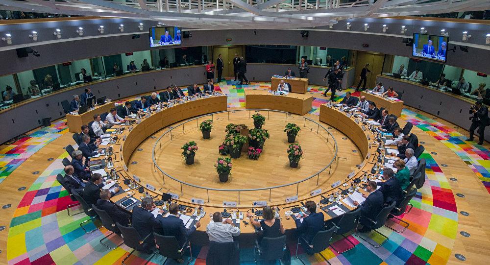 EU leaders take part in a European Union summit in Brussels, Belgium June 28, 2018.