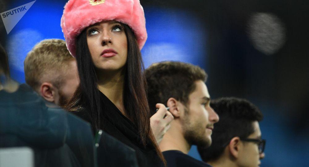 Una tifosa russa
