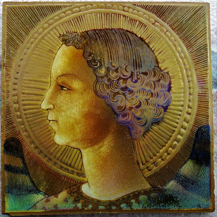 L'Arcangelo Gabriele, pittura d'Eterna vernice