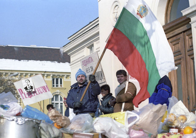 Manifestazioni a Sofia, Bulgaria