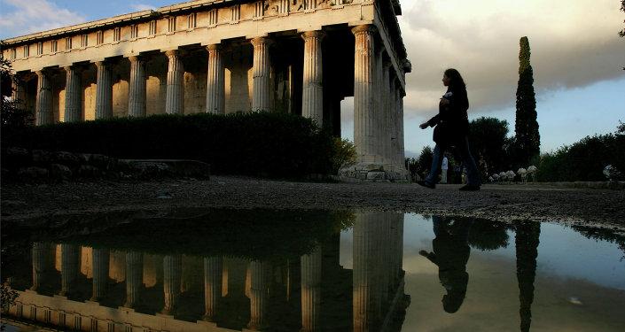 Un tempio a Atene, Grecia