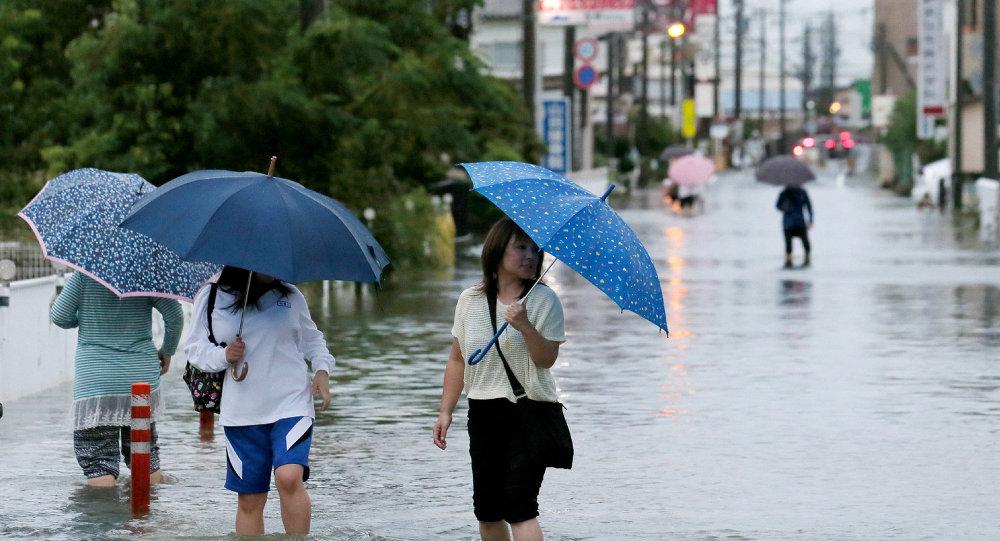 Alluvione in Giappone