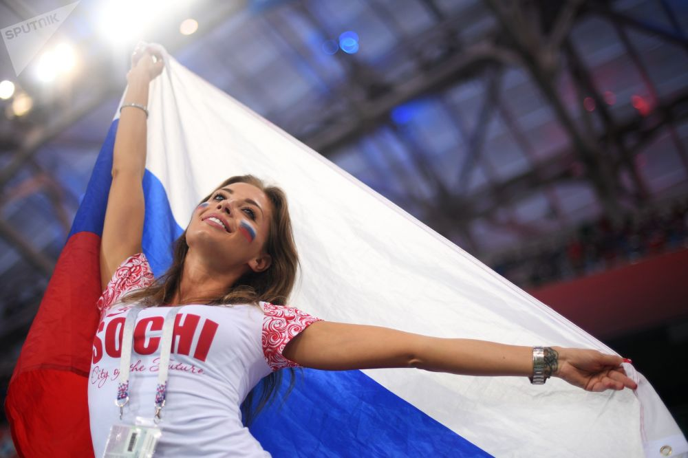 Una tifosa russa.