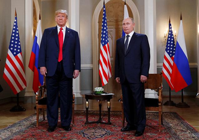 Donald Trump e Vladimir Putin a Helsinki