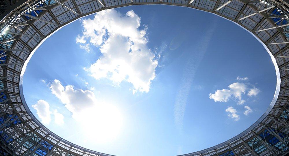 Il cielo sopra lo stadio di Nizhny Novgorod