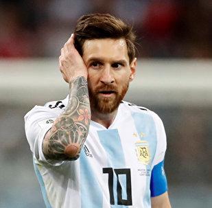 Lionel Messi durante Argentina-Croazia ai Mondiali