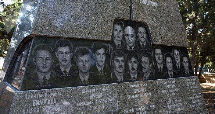Monumento in memoria dei marinai morti nella tragedia del Kursk a Sebastopoli