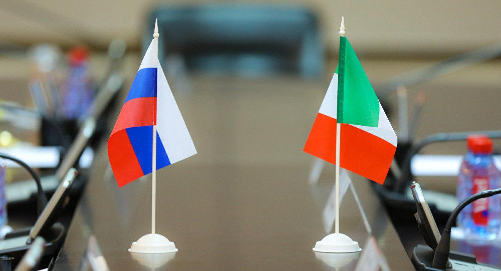 bandiera della Russia e dell'Italia