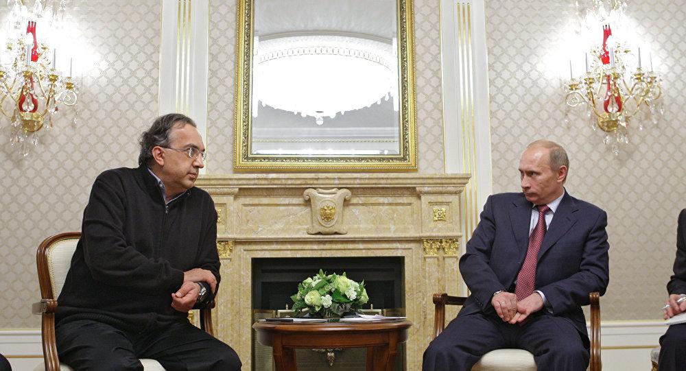 Sergio Marchionne e Vladimir Putin