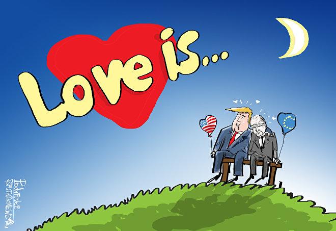 Trump+Juncker=amore