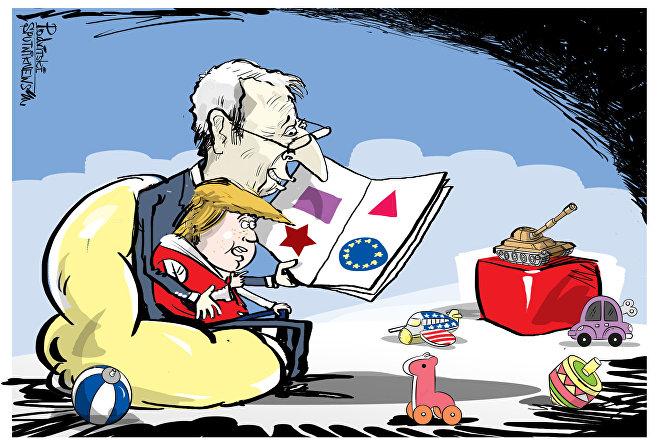 Papà Juncker e piccolo Trump