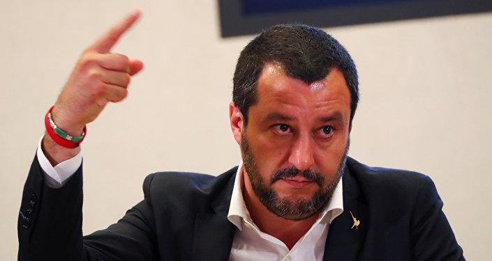 Il ministro degli Interni italiano Matteo Salvini