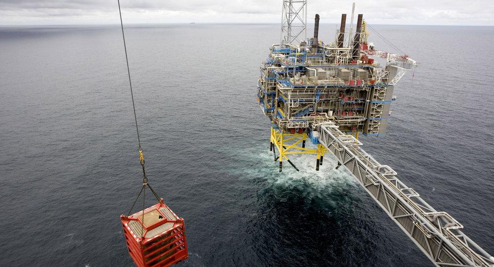 Una piattaforma di gas nel mare della Norvegia.