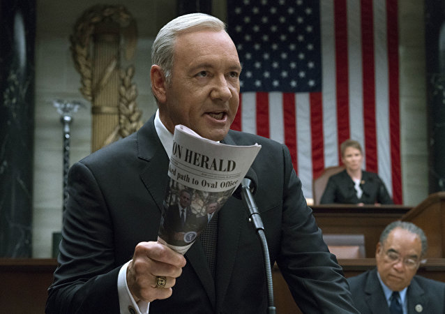 Kevin Spacey recita in House of Cards