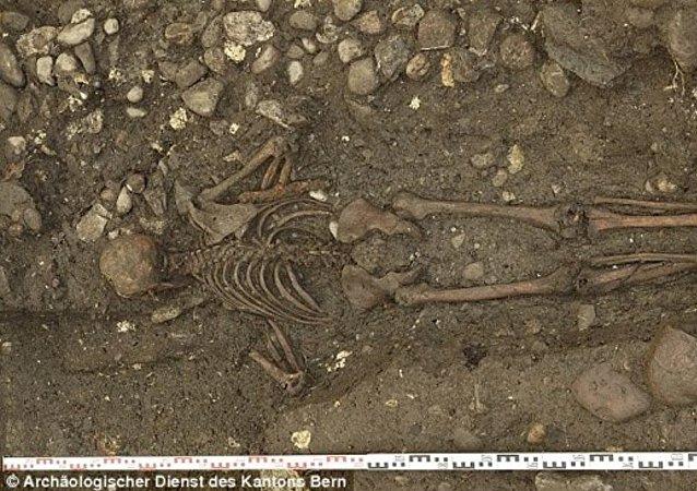 Un antica sepoltura.