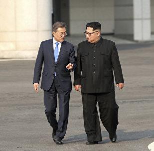 Kim Jong Un e Moon Jae-in