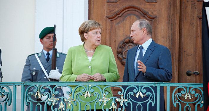 Angela Merkel e Vladimir Putin a Berlino 18-08-2018