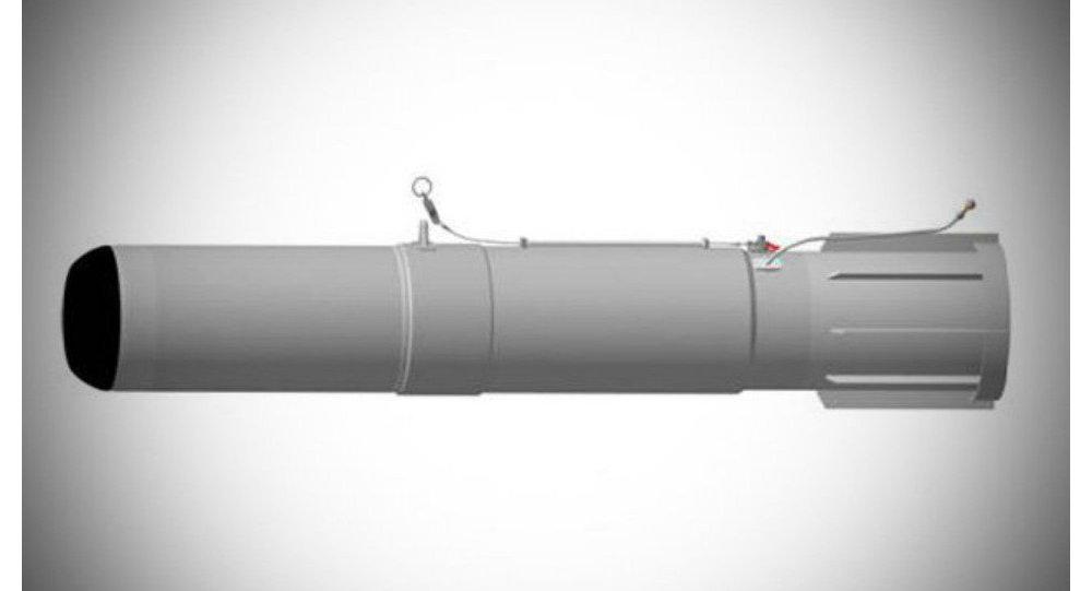 Prototipo di razzo anti-sottomarino Zagon-2E