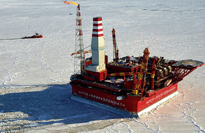 Piattaforma petrolifera Prirazlomnaya, Russia