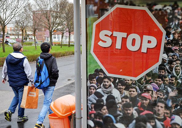 I cartelli per il premier ungherese Viktor Orban a Budapest