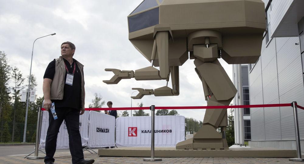 Prototipo del robot Igorek presentato alla fiera militare Army-2018