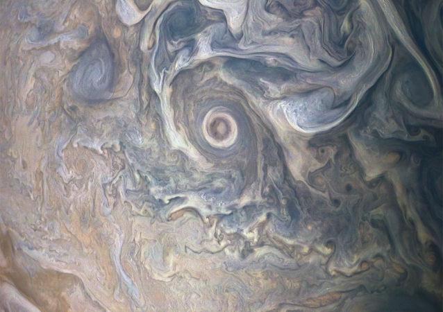 Foto del Polo Nord di Giove