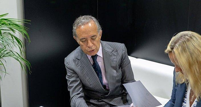 L'ambasciatore italiano in Russia, Pasquale Terracciano, alla fiera CPM