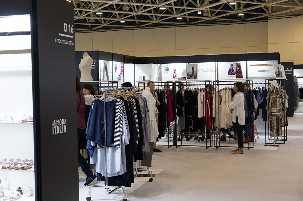 Uno degli stand nel padiglione organizzato da Ente Moda Italia a CPM Moscow