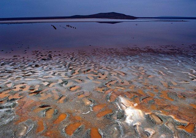 Lago rosa di Koyash, Crimea