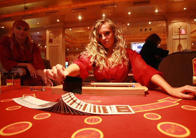 Il tavolo di una sala da gioco