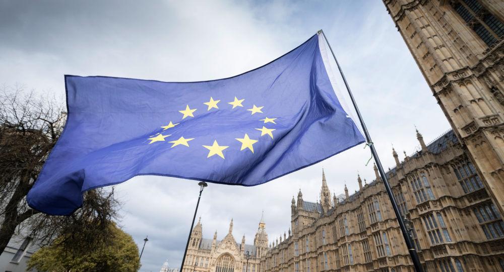 Bandiera UE a Londra