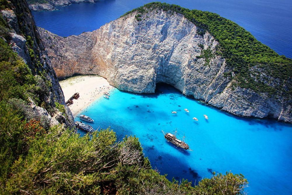 Vista panoramica dell'isola di Zante, Grecia