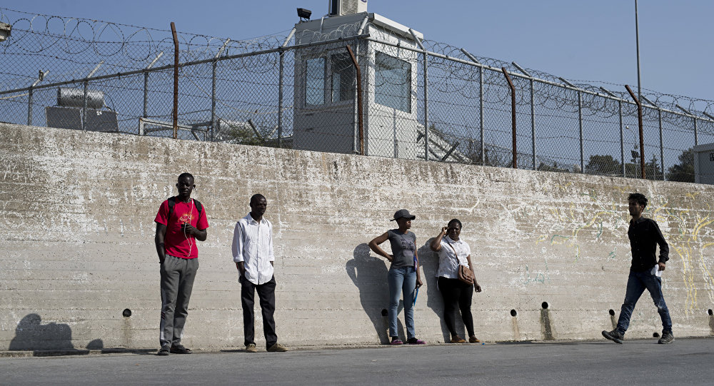 Migranti nell'isola di Lesbo, Grecia.