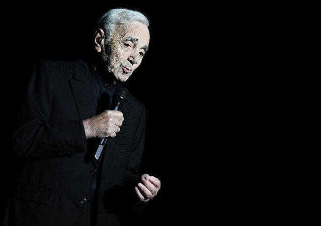 Charles Aznavour al concerto in Cremlino