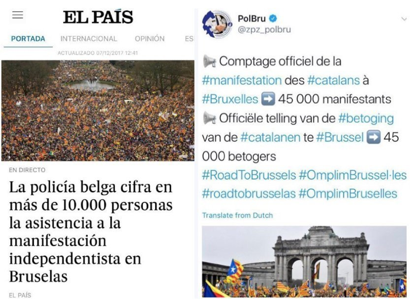 Articolo di El Pais e post su Twitter